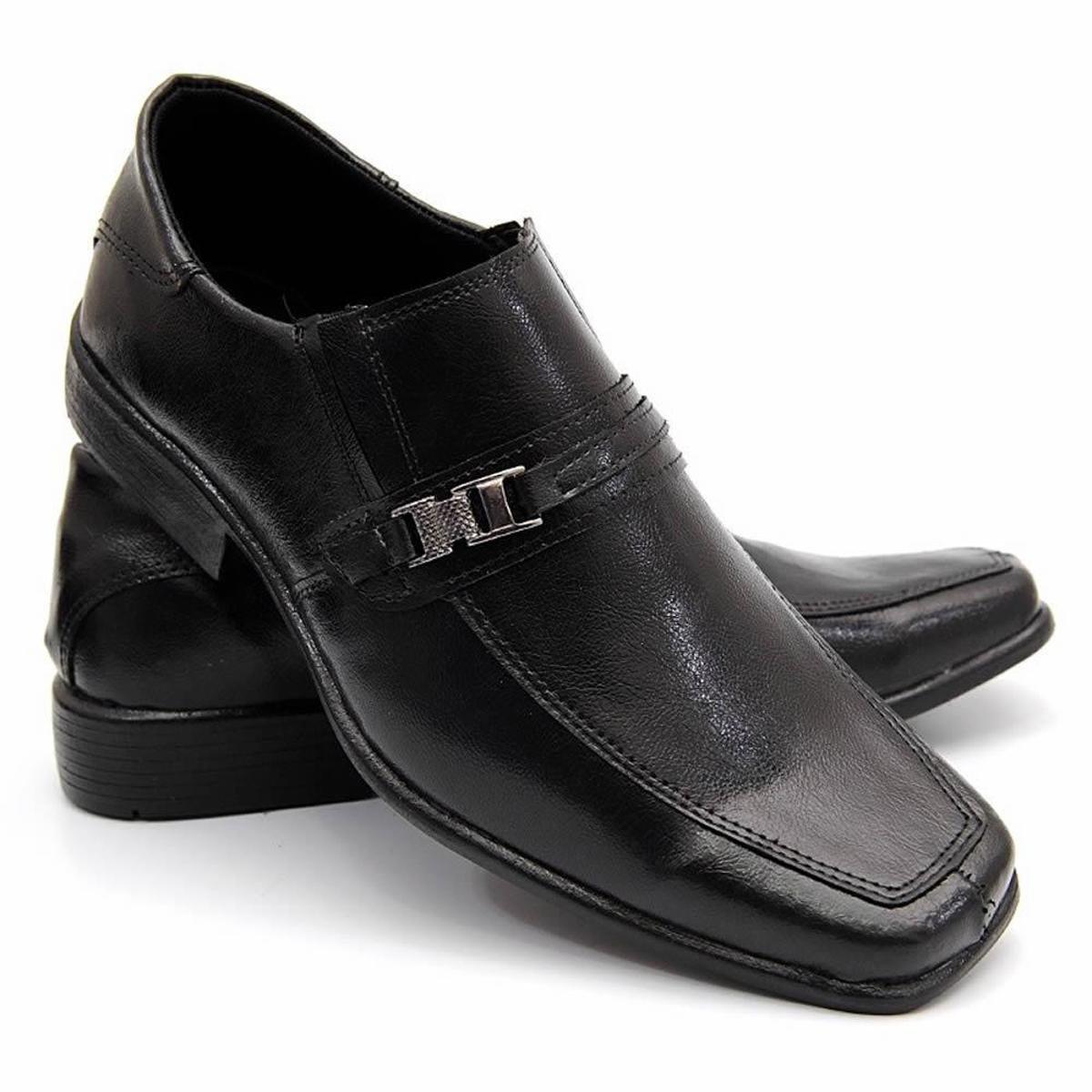 e8fab41f91 Sapato Social Masculino Bico Quadrado Couro Legítimo Garra - Compre Agora