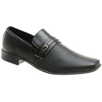 Sapato Social Masculino Bico Quadrado Dia a Dia Conforto