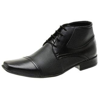 Sapato Social Masculino Bota Cano Alto Silva&silva 1081 Preto