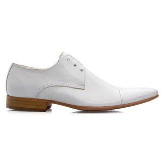 Sapato Social Masculino Branco Em Couro De Amarrar 307b
