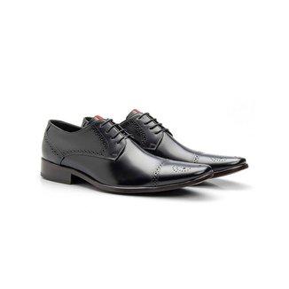 Sapato Social Masculino Brogue Couro Cromo 658