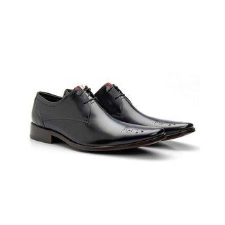 Sapato Social Masculino Brogue Couro Cromo 659