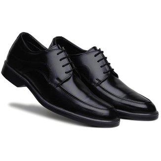 Sapato Social Masculino Cadarço Bico Redondo Confortável