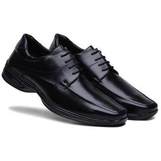 Sapato Social Masculino Cadarço Confortável Dia a Dia
