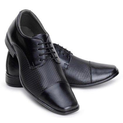 Sapato Social Masculino Cadarço Dia a Dia Confortável Macio