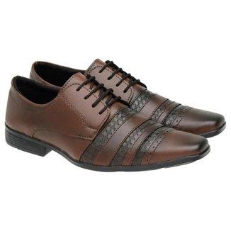 Sapato Social Masculino Cadarço Estilo Conforto Elegante