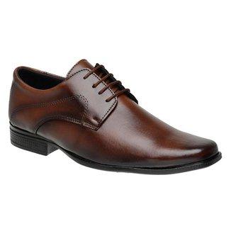 Sapato Social Masculino Cadarço Liso Macio Leve Confortável