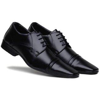 Sapato Social Masculino Cadarço Macio Conforto Dia a Dia