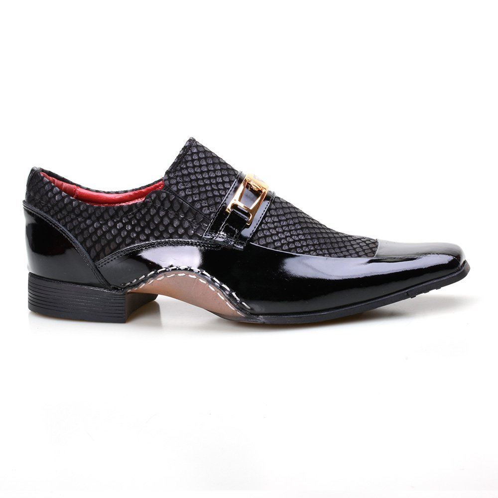 Confortável Calvest Sapato Masculino Preto Sapato Masculino Social Super Calvest Social qdC8xq
