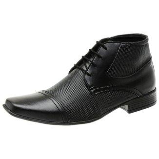 Sapato Social Masculino Cano Médio Fechamento Cadarço