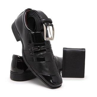 Sapato Social Masculino Chique Casual Cinto Carteira Schiareli 839 Kit