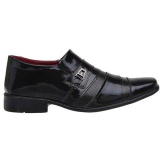 Sapato Social Masculino Clássico Verniz Dia a Dia Elegante