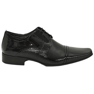 Sapato Social Masculino Com Cadarço Em Couro Verniz Jota Pé 77700