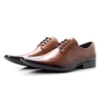 Sapato Social Masculino Couro Bico Fino Italiano Conforto