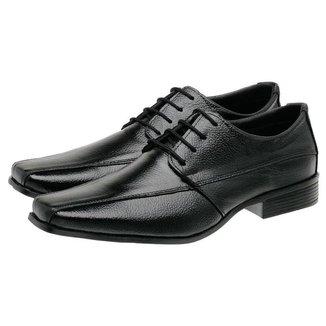 Sapato Social Masculino Couro Cadarço Confortável