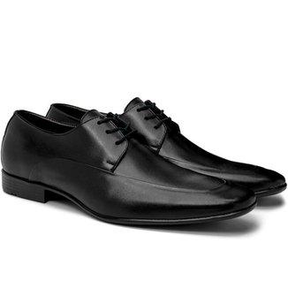 Sapato Social Masculino Couro Cadarço Conforto Dia a Dia