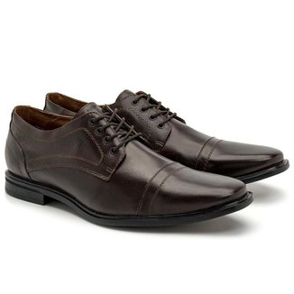 Sapato Social Masculino Couro Cadarço Estilo Macio Conforto