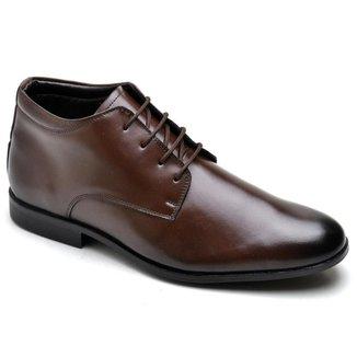 Sapato Social Masculino Couro Cano Alto Conforto Leve Macio
