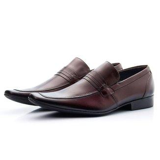 Sapato Social Masculino Couro Clássico Bico Fino Dia a Dia