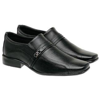 Sapato Social Masculino Couro Clássico Elegante Leve Macio