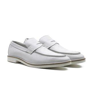 Sapato Social Masculino Couro Confort Liso Solado Borracha