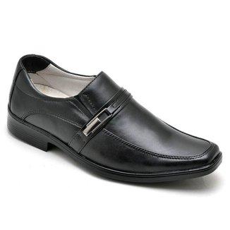 Sapato Social Masculino Couro Confortável Elástico Dia a Dia