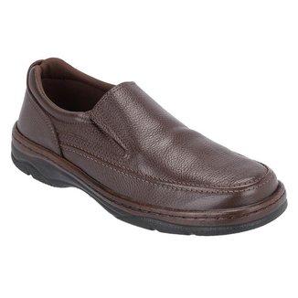Sapato Social Masculino Couro Elástico Calce Fácil Dia a Dia
