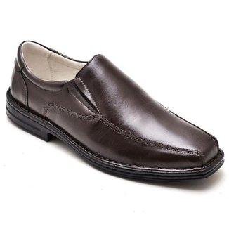 Sapato Social Masculino Couro Elástico Confortável Casual