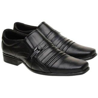 Sapato Social Masculino Couro Elástico Conforto Elegante