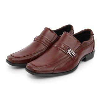 Sapato Social Masculino Couro Elástico Dia a Dia Clássico