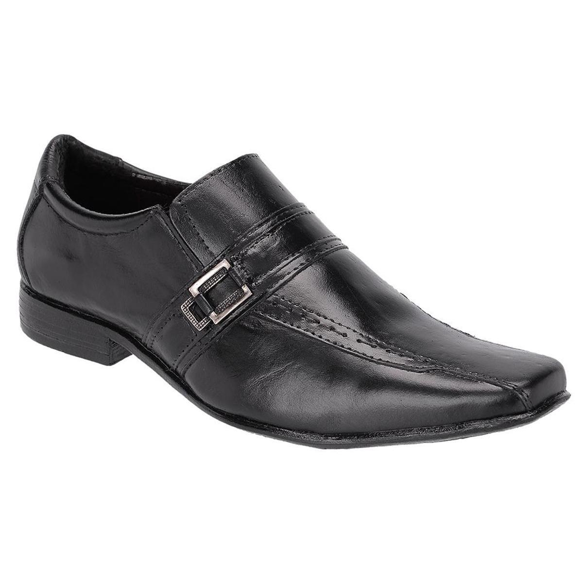 Sapato Social Masculino Couro Leoppé - Preto