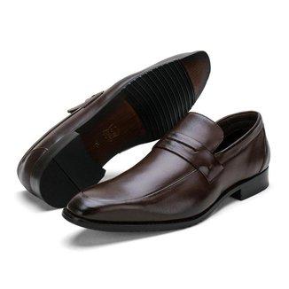 Sapato Social Masculino Couro Liso Almofadado Conforto