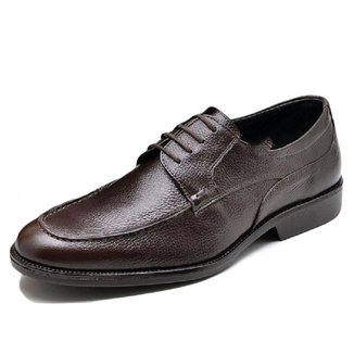 Sapato Social Masculino Couro Liso Solado Antiderrapante