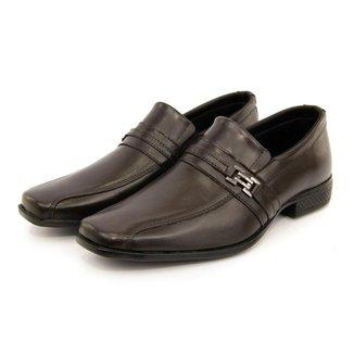 Sapato Social Masculino Couro Liso Sport Fino Clássico