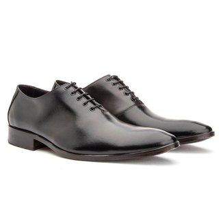 Sapato Social Masculino Couro Luxo Conforto Dia a Dia Liso