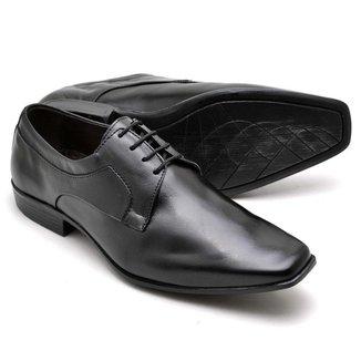 Sapato Social Masculino Couro Moderno Macio Confortável Leve