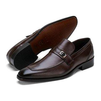 Sapato Social Masculino Couro Palmilha Almofadada Liso