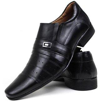Sapato Social Masculino Couro Preto 1061