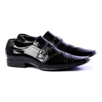 Sapato Social Masculino Couro Quadrado Conforto Dia a Dia