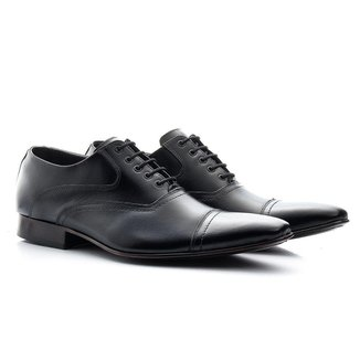 Sapato Social Masculino Couro Resistente Conforto Cadarço