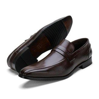 Sapato Social Masculino Couro Solado Borracha Antiderrapante