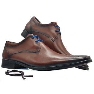 Sapato social masculino derby brogue bico firenze fino MOD 659