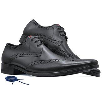 Sapato social masculino derby brogue sola Couro firenze MOD 657