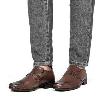 Sapato Social Masculino Elástico Ajustável Fivela Quadrado