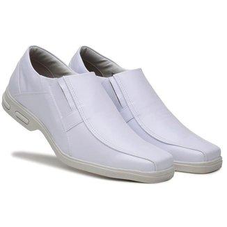 Sapato Social Masculino Elástico Bico Quadrado Confortável