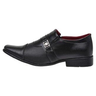 Sapato Social Masculino Elástico Conforto Elegante Casual