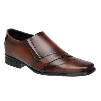 Sapato Social Masculino Elástico Costuras Macio Confortável