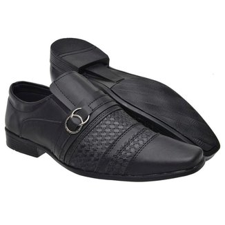 Sapato Social Masculino Elástico Fivela Conforto Moderno