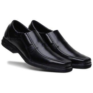 Sapato Social Masculino Elástico Liso Conforto Elegante