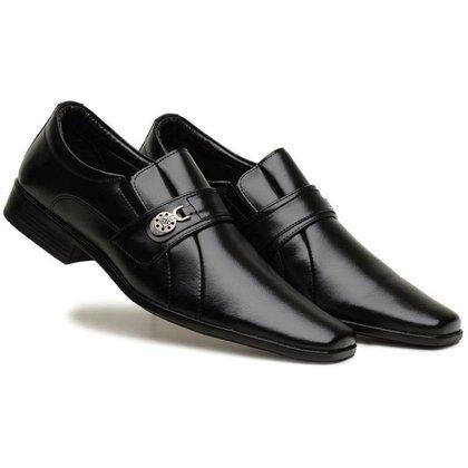 Sapato Social Masculino Elástico Liso Metal Leve Conforto